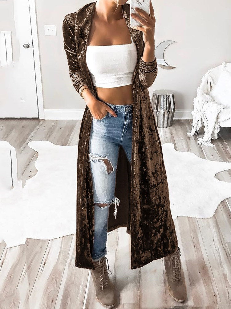 Long Casual Loose Trench Coat