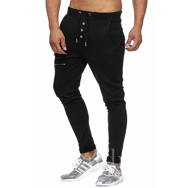 Lace-up Plain Men's Pencil Pant