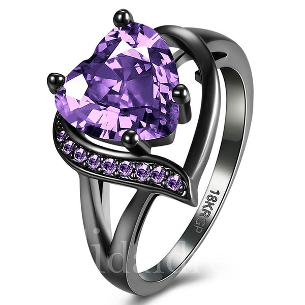 Heart-Shaped Prom Anniversary Diamante Technic Ring