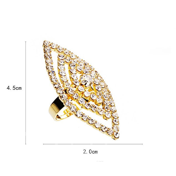 Diamante Technic Alloy Prom Engagement Wedding Ring