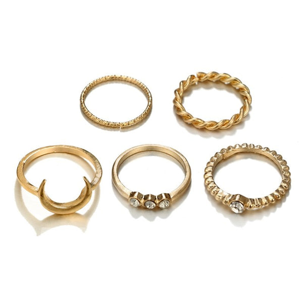 Geometric Pattern E-Plating Technic Wedding Ring