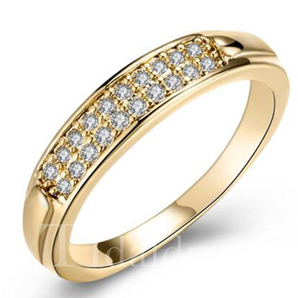 Korean Style Female Prong Diamante Technic Ring