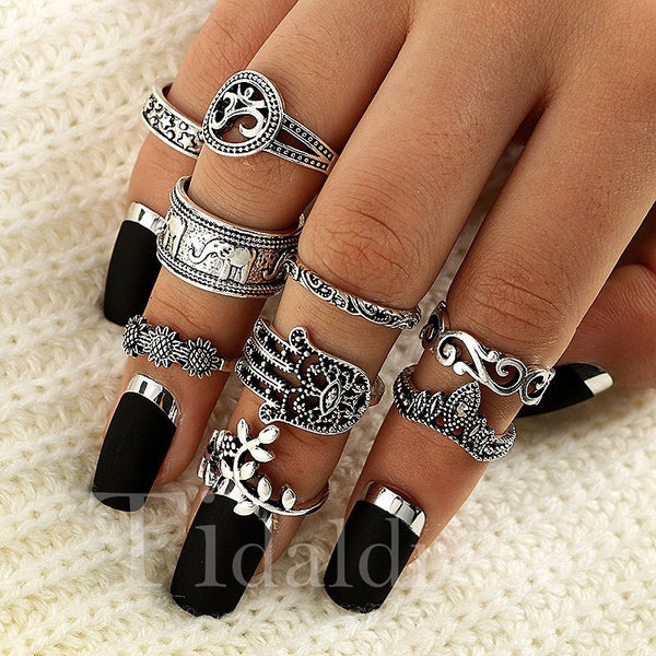 Birthday Gift Female European Style Alloy Ring