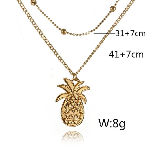 Plant Pattern E-Plating Technic Anniversary Necklace