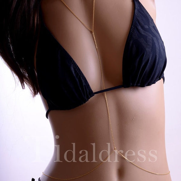 Prom Engagement Alloy Body Chain Necklace