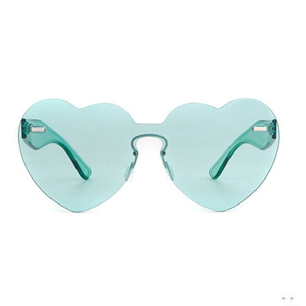 Heart Shape Polarized Anti UV Unisex Sunglasses