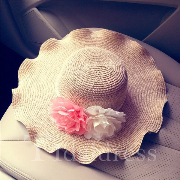 Irregular Applique Bowknot Embellishment Floral Pattern Hat