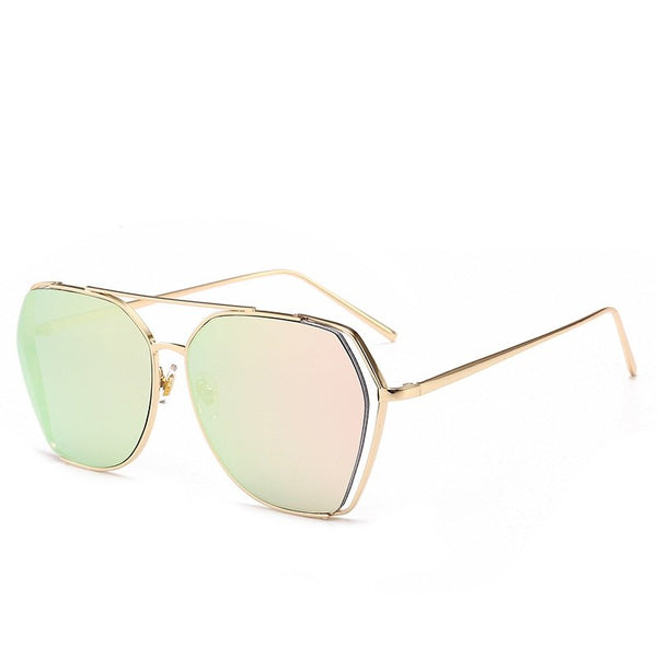 Unisex Anti UV Resin Lens Polygon Sunglasses