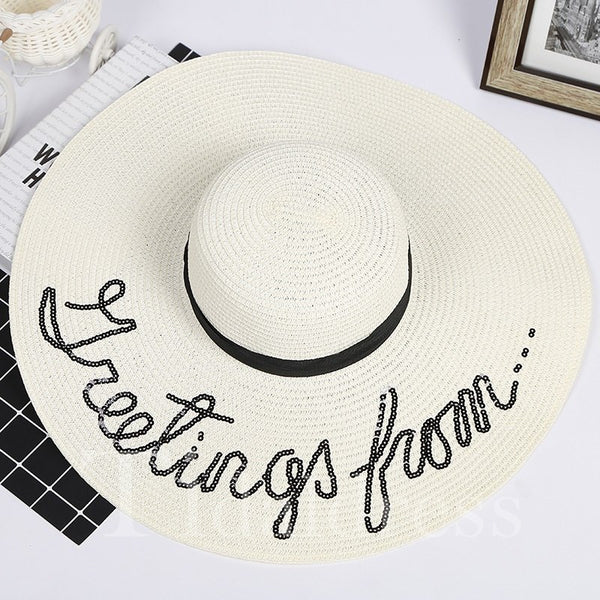 Female Plain Pattern 3D Summer Fall Sun Hat
