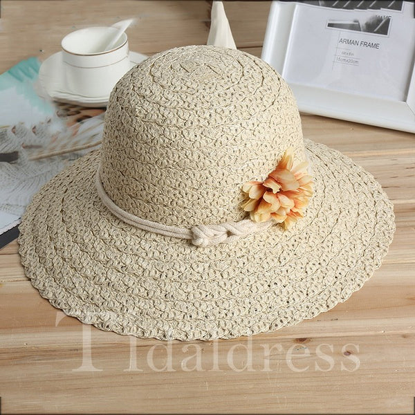 Outdoor Flower Female Adjustable Strap Type Sunhat