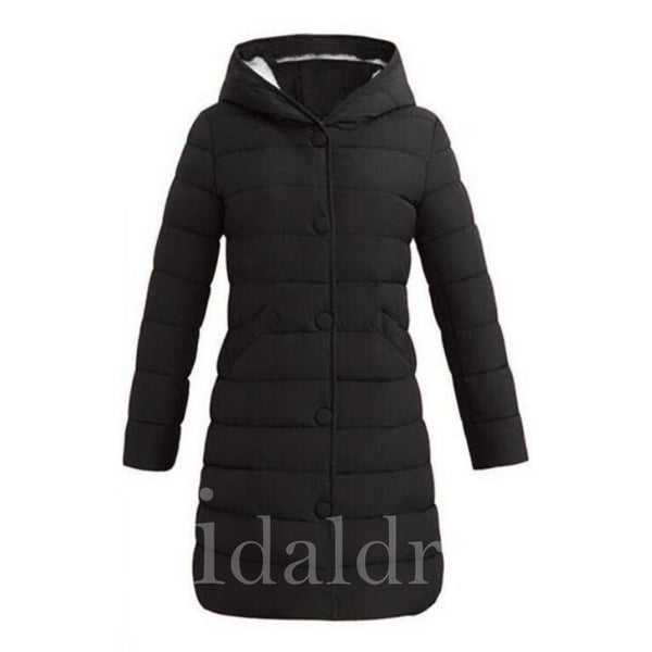 Casual Style Zipper Hooded Neckline Women's Overcoat