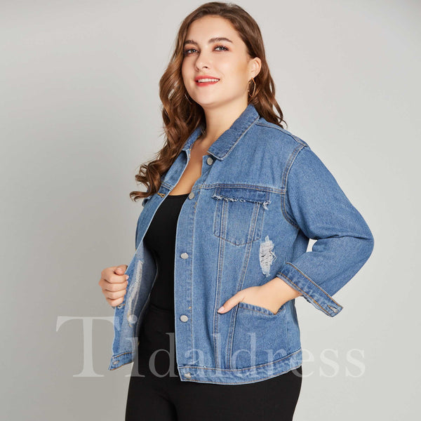 Loose Model Standard Length Long Sleeve Jacket