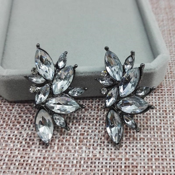Alloy E-Plating Technic Water Drop Pattern Earrings