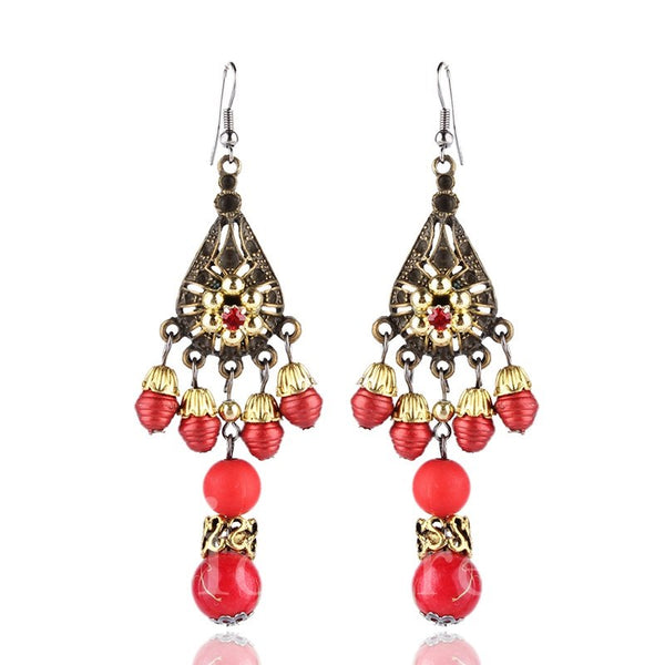 Hollow Out Female Geometric Pattern Prom Birthday Earrings