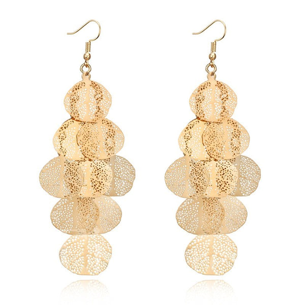 Gift Holiday Alloy E-Plating Technic Earrings