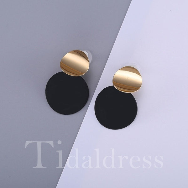 E-Plating Technic Female Alloy Geometric Pattern Earrings