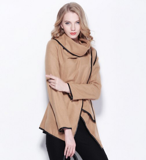 Asymmetrical Hem Zipper Slim Model Trench Coats