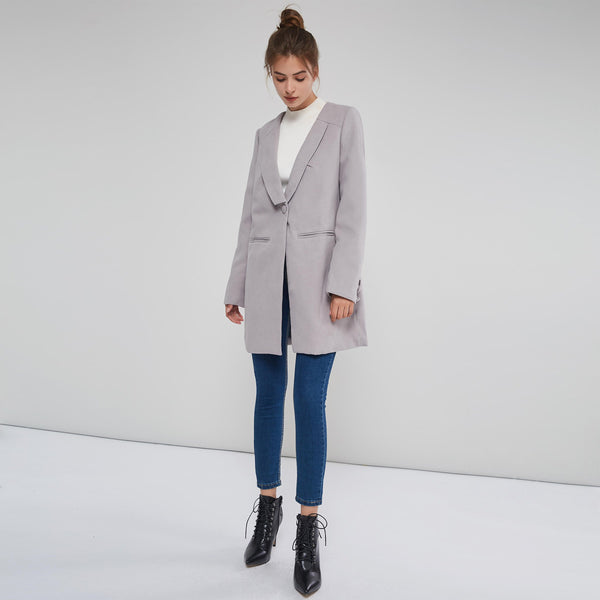 Wear To Work Style One Button Overcoat