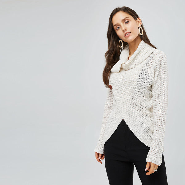 Acrylic Thin Loose Model Mid-Length Knitwear