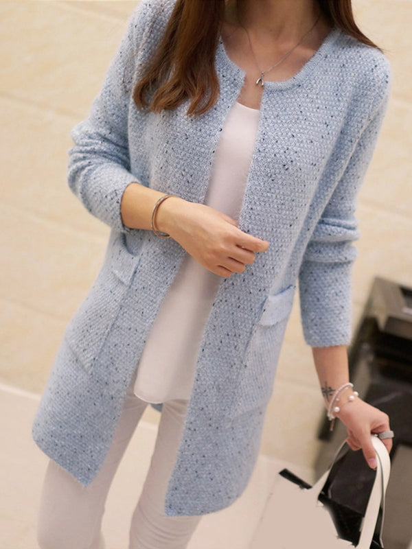 Loose Model Cardigan Mid-Length Long Sleeve Knitwear