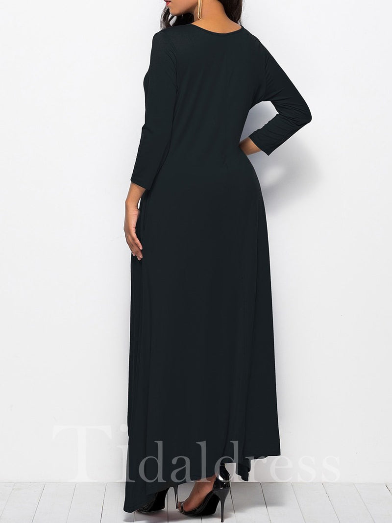 Special Pocket Asymmetric Women's Maxi Dress