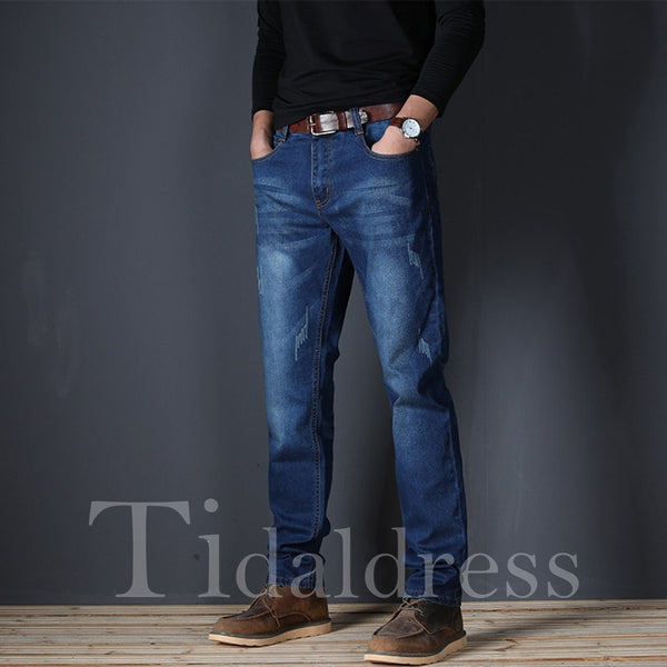Casual Loose Mid-Waist Straight Men's Jean