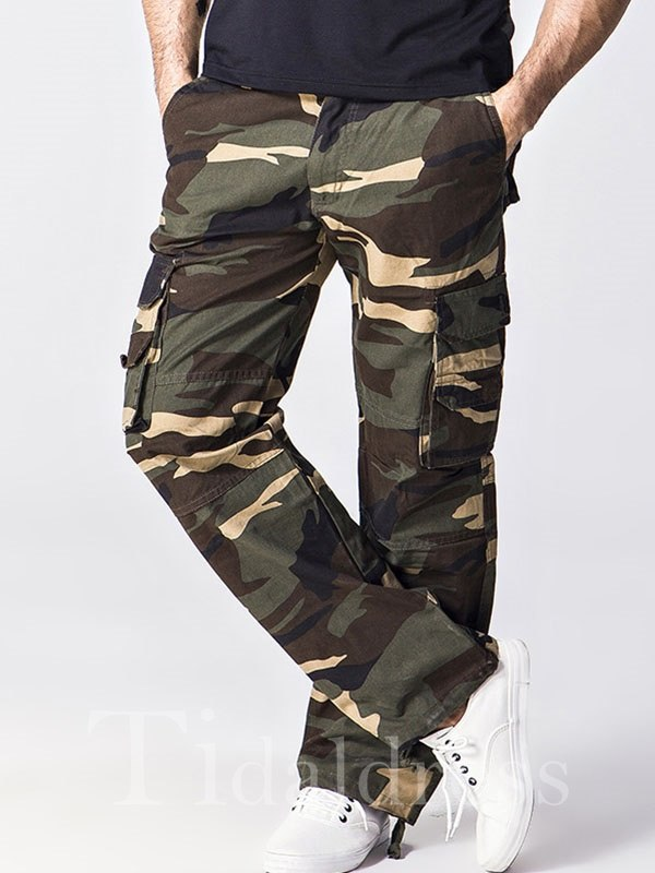 Camouflage Straight Loose Men's Casual Pants