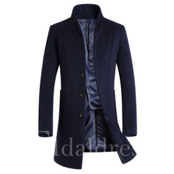 Standingf Collar Single Breasted Men's Coats