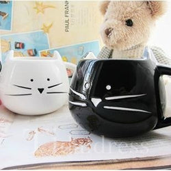 Lovely Black and White Cat Lovers Ceramic Cup