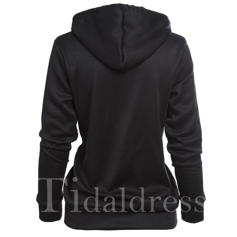 Loose Model Letter Clear Print Women's Hoodie