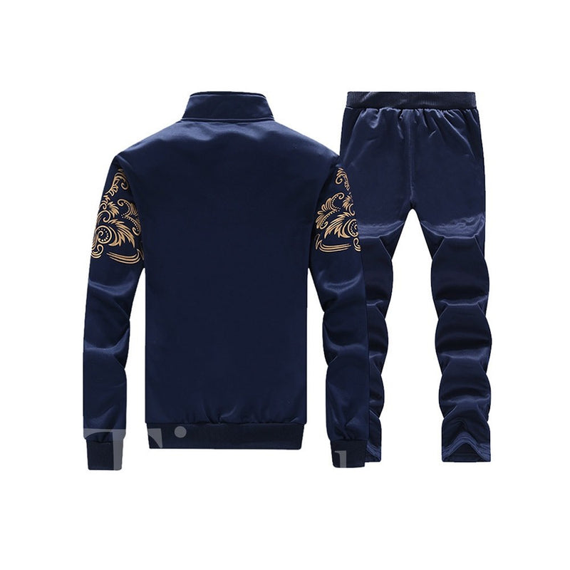 Print Sports Style Zipper Men's Outfits