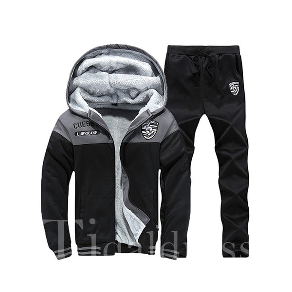Sports Style Print Patchwork Men's Outfits