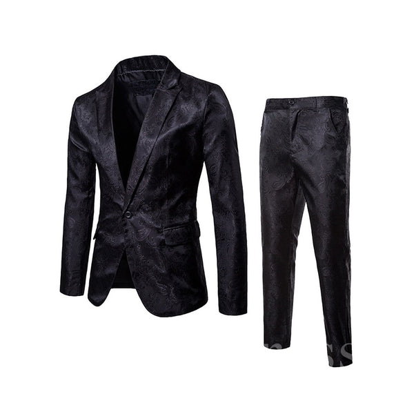 One Button Blazer & Pants Men's Casual Suits