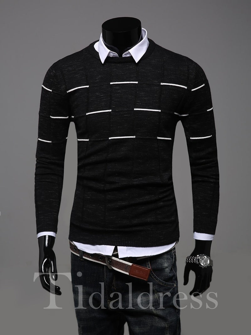 Long Sleeve Slim Model Simple Style Sweater
