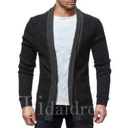Lapel Loose Model European Style Men's Sweater