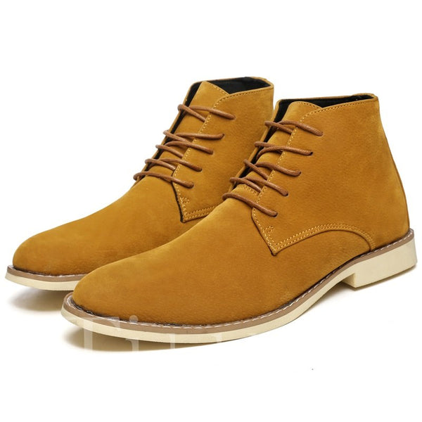 Faux Suede Round Toe Men's Martin Boots
