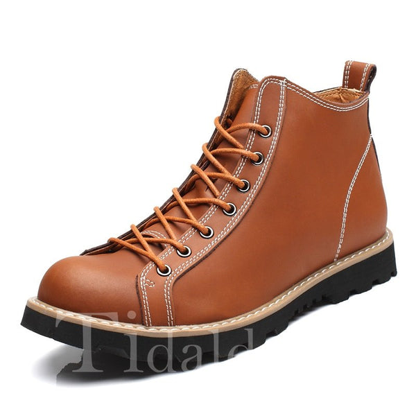 Sewing Casual Style Thread Men's Boots