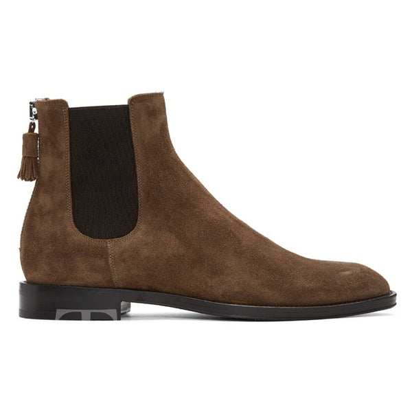 Sue Color Block Fringe Thread Men's Martin Boots