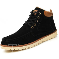 Color Block PU Round Toe Glueing Men's Boots