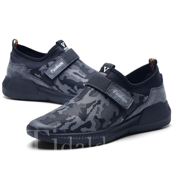 Velcro Glueing Camouflage Rubber Men's Sneakers