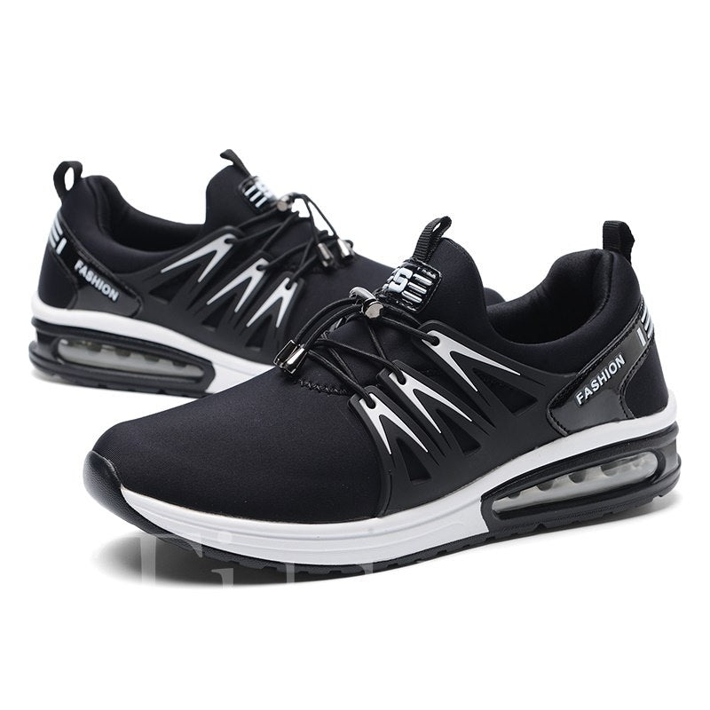 Round Toe Low-Cut Upper Elastic Band Men's Sneakers