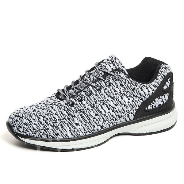 Mid-Cut Upper Lace-Up Mesh Men's Sneakers