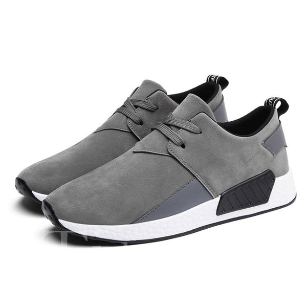 Low-Cut Upper Lace-Up PU Men's Sneakers