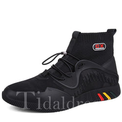Cloth High-Cut Upper Round Toe Men's Sneakers