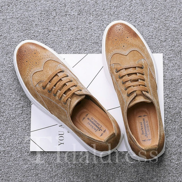 Thread Sewing Low-Cut Upper Men's Skater Shoes
