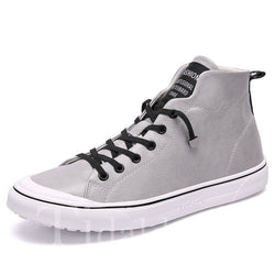 Retro Lace-Up Men's Skater Shoes