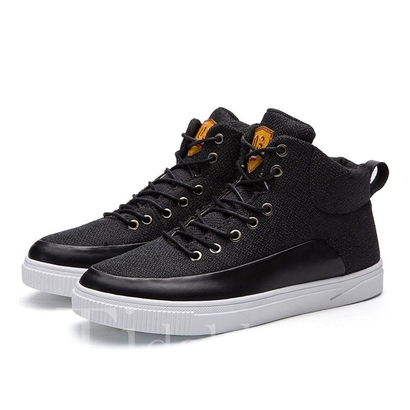 Cloth High-Cut Upper Men's Skater Shoes