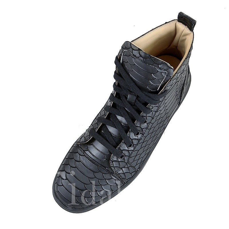 High-Cut Upper Lace-Up Men's Skater Shoes