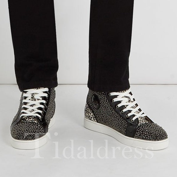 Trendy Casual Round Toe High-Cut Men's Sneakers