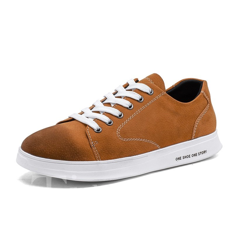 Glueing Lace-Up Low-Cut Upper Men's Skater Shoes